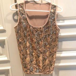Tops - Gold Sequins Top